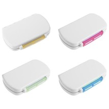 6 Grids Portable Medicine Pill Box Sealed Moisture-proof Pills Storage C... - $4.99