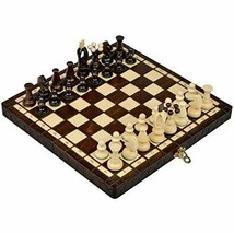 International Chess Chessboard Foldable Chessmen Sycamore Wood Portable ... - $66.12