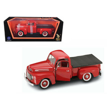 1948 Ford F-1 Pickup Truck with Bed Cover Red 1/18 Diecast Model Car by Road ... - $63.94