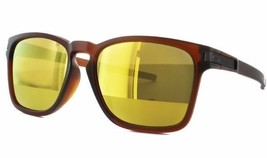 New Oakley Latch SQ Sunglasses OO9358-05 Matte Rootbeer 24K Iridiu Asia Fit - $79.19