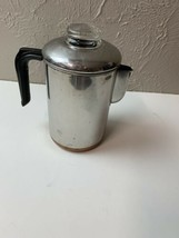 Vintage EckoWare 6-8 Cup Percolator Coffee Pot SS / Copper Clad Bottom - $37.36