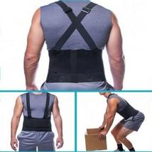 Back Support Belt Heavy Lift Lumbar Brace Suspenders for Work Adjustable... - $13.81