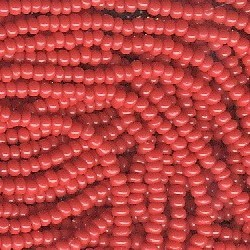 Seed bead rocaille full hank red 5