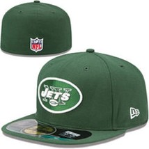 NFL NEW YORK JETS MEN'S 7 NEW ERA 59FIFTY ON FIELD GREEN FITTED CAP HAT NEW - $18.75