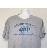 Property of More taste League Miller Lite Beer T Shirt Mens Large Distre... - $21.73