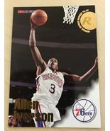 1996 96-97 NBA Hoops Allen Iverson #295, RC Rookie  76ers , HOF - $3.91
