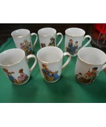 Collectible Set of 6 NORMAN ROCKWELL Museum MUGS - $19.39
