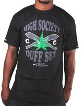 Crooks & Castles Black or White High Society Duff Marijuana Weed Joints T-Shirt image 2