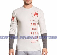 American Fighter Double Stacked FM5799 Grey L/S T-shirt for Men By Affli... - $39.78+