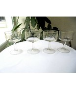 "Set of 4 Princess House Heritage Pattern Champagne Glasses 4"" Tall  - £9.39 GBP"