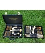 Bestecke SBS Solingen 69pc Silverware Cutlery 23/24k Gold Plated 18/10 S... - $237.45