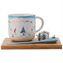 SIMPLE TEA SET –Ski Scene Design - 2 Sets - $73.80