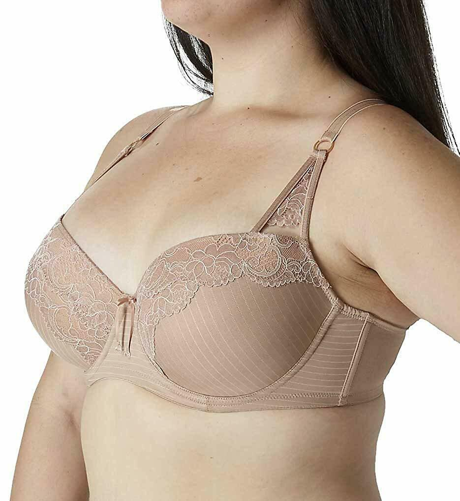 NEW Ashley Graham Women's Lingerie Cappuccino Convertible Lace Contour Bra 40DD