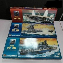 3 Hasegawa 1/450 IJN DISPLAY Warships Yamato , Musashi , and Akagi by SE... - $173.85