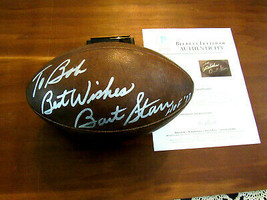 BART STARR BEST WISHES HOF 77 PACKERS SIGNED AUTO WILSON ROZELLE FOOTBAL... - $791.99