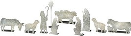 Primitives by Kathy Galvanized Metal Stand Up Set, Nativity Scene, 10 Piece