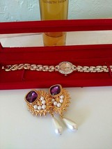 Elizabeth Taylor LOT: Shaill Jhaveri Earrings,Diamonds & Rubies Fragranc... - $75.00