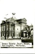 Vtg 1950s Kodak Cppr Boone Comté Escarpin Maison Burlington Ky Rue Vue Avec Cars - $63.94