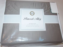 Peacock Alley 500TC Certified Egyptian Cotton Sateen 4P King Sheet Set NEW Grey - $146.62
