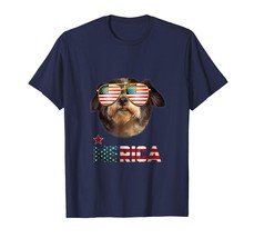 Dad Shirts -  Shih Tzu Merica 4th of July Patriot T Shirt for Women Men Men - $19.95+