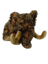 """Ty Beanie Baby Giganto Wooly Mammoth 6"""" Bean Bag Plush Brown Brindle Kids Toy - $7.70"""