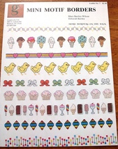 2 Leaflets-Cross Stitch/Needlepoint MINI MOTIF BORDERS Ice Cream-Chicks-... - $7.00