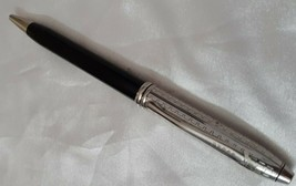 Cross Townsend Ball Pen Black Lacquer Barrel With Diamond Cut Rhodium Cap - $123.75