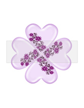 Clover Heart Flower3-Digital ClipArt-Art Clip-Gift Tag-Notebook-Scrapboo... - $2.00
