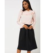 Black Full Midi Scuba Stretch Fit Skirt 8 , 10 , 12 , 14 , 16 NEW - $13.02