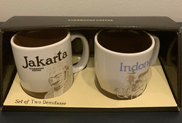 RARE! STARBUCKS SET OF TWO CERAMIC Jakarta & Indonesia  DEMITASSE 3oz Ne... - $23.99