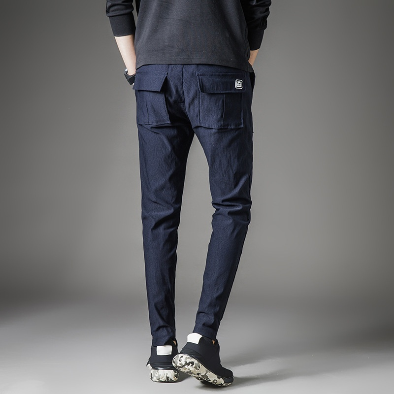 Spring and summer Korean men's Haren slim pants, casual sports pants