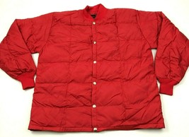 NEW VINTAGE Thaw Puffer Jacket Men's Size Extra Large Coat Red Down Snap... - $27.33