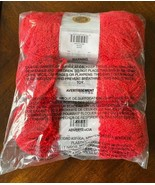 Lion Brand Baby Soft Boucle Yarn Scarlet 113 THREE Skeins NEW sealed - $13.99