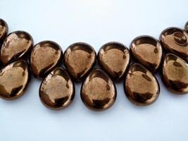 6  12 x 16 mm Pear Shaped Drops : Patina - Tanzanite - $2.52