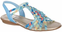 Impo Brinley Stretch Sandal Memory Foam Pastel Multi Blue  Sz 7  - £14.44 GBP