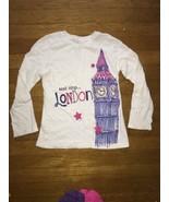 ! childrens place white london glitter graphic tee shirt medium 7 - 8 - $3.51
