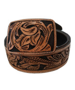 cinto belt hand tooled cincelado 100% leather dark brown size 42 Mexico ... - $99.95