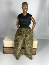 Vtg MC Hammer Doll Figure Doll GOLD LAME OUTFIT 1990S Incomplete - $26.72