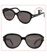 SAINT LAURENT 400 YSL SL400 Black Oval Classic Sunglasses Unisex 001 - $252.45