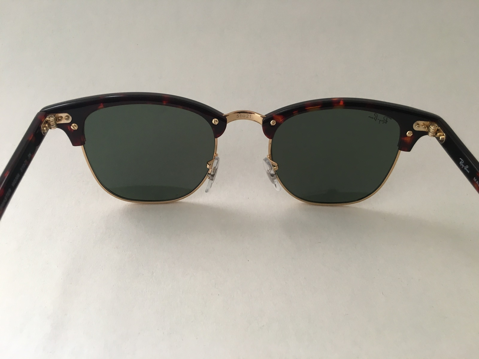529a405922 Ray-Ban RB3016 W0366 Tortoise   Gold Clubmaster Sunglasses G15 Green Lens  100% U