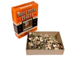 """Vintage Picture Perfect Jigsaw Puzzle in Original Box - 375 Piece """"Indep... - $14.03"""