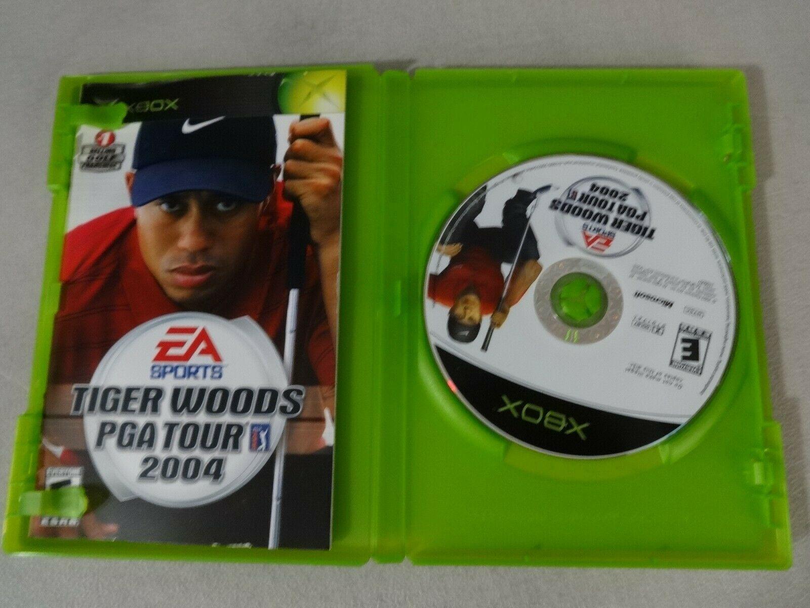 Tiger Woods PGA 2004 Original Microsoft Xbox Game Complete Free Ship