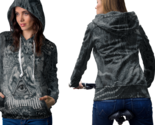 Baphomet eye hail satanic hoodie women thumb155 crop