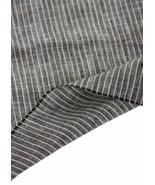 55'' Wide Home Linen Fabrics Striped Flax Fabric Black (17.5 55 Inches) - €19,80 EUR
