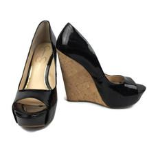 Jessica Simpson Women Bethani Shoes Size 7.5 Black Wedges Peep Toe   - $16.40