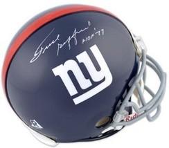 Frank Gifford signed New York Giants TB Replica Mini Helmet HOF 77 - $128.95