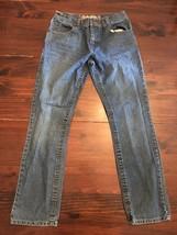 Girls Size 16 Reg Skinny Jeans By Arizona Dark Wash Denim  26x28 - $18.50