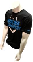 Nike Dri Fit Men's Carolina Panthers Black Short Sleeve Shirt NFL T-Shirt - $19.99