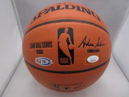 GIANNIS ANTETOKOUNMPO / AUTHOGRAPHED BUCKS LOGO FULL SIZE NBA BASKETBALL / JSA image 4