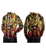 DMT Psychedelic Face Hoodie Zipper For men - $49.99+